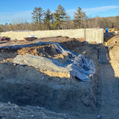 Pool area foundations